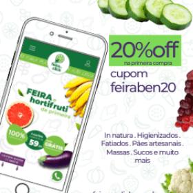 20% na1ª compra de feira e hortifrúti